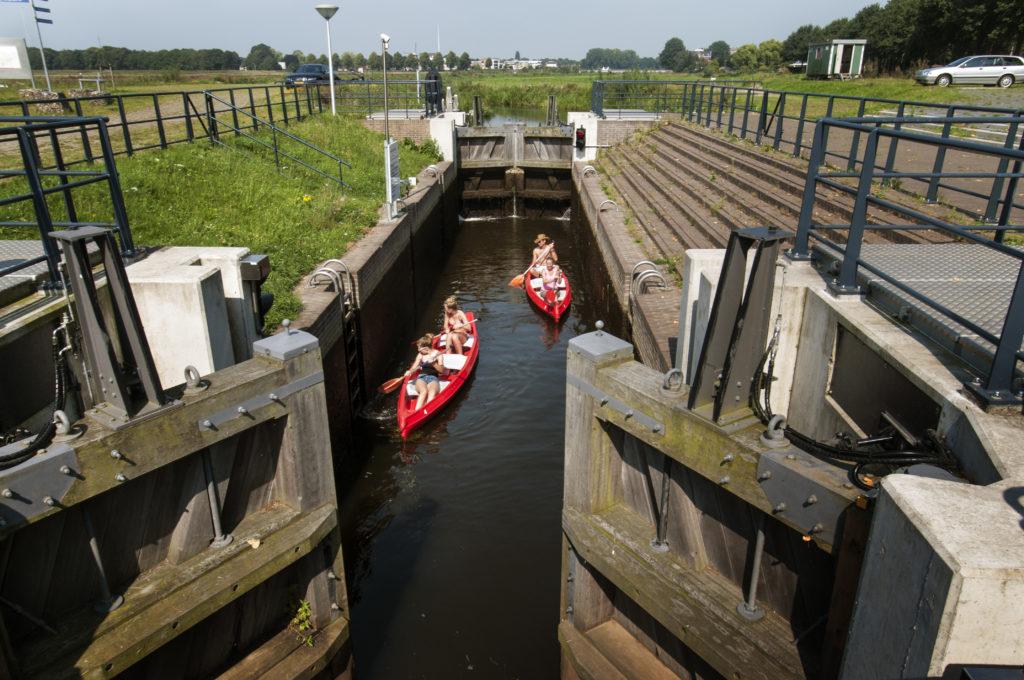 Kano varen op de Vecht