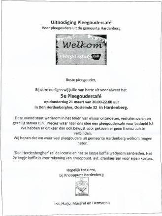 Pleegouder Cafe - Visit Hardenberg