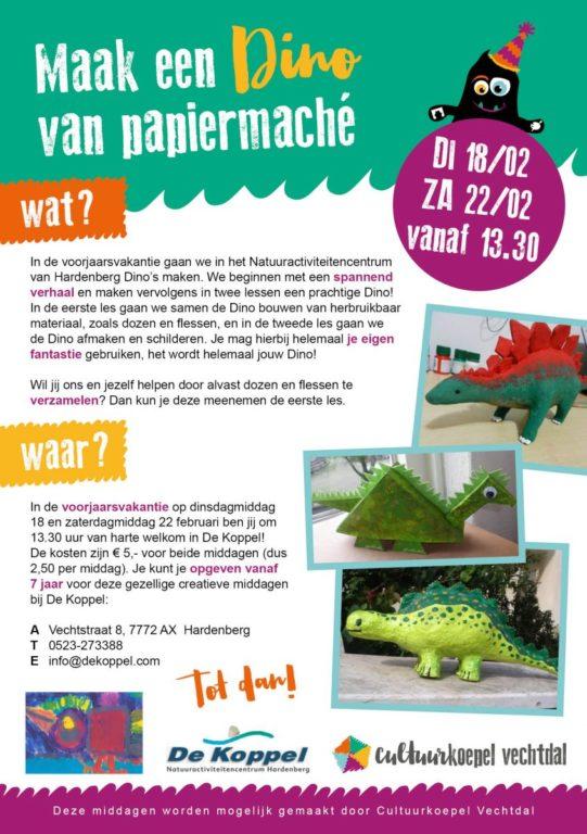 Maak een dino van papier maché - Visit Hardenberg