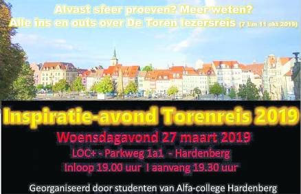 Inspiratie-avond Lezersreis De Toren - Visit Hardenberg