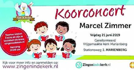 Marcel Zimmer Koorconcert Met GospelKids - Visit Hardenberg